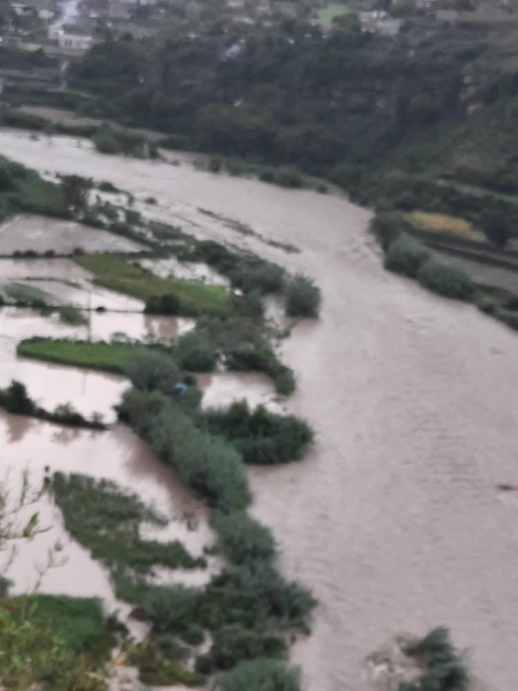 حصيلة ما جرفته السيول يوم أمس في محافظة إب