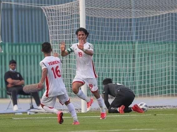 نهاية الشوط الاول اليمن 1×1 الأردن