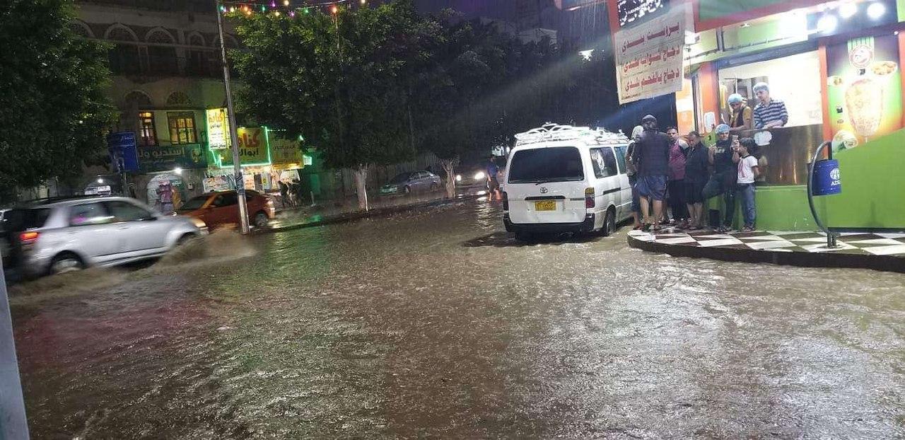 صنعاء .. هطول أمطار غزيرة مصحوبة بالعواصف الرعدية*